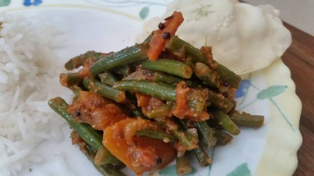 Green Beans & Carrot Sabzi